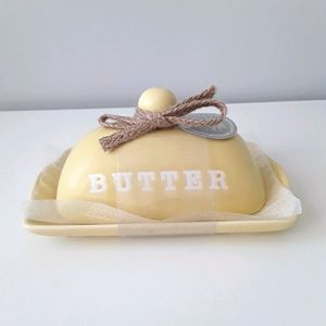 NWT butter dish with lid (NOT Rae Dunn)